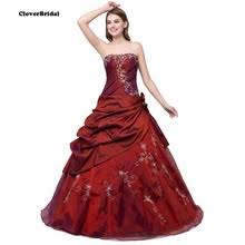burgundy quince dresses burgundy quinceanera dresses promotion shop for promotional
