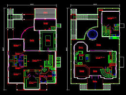 enchanting 70 autocad house plans decorating inspiration of 4 bed