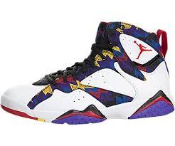 Nike Comfort Footbed Sneakers Nike Jordan Men U0027s Air Jordan 7 Retro White Unvrsty Rd Blk Brght
