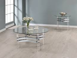 720708 coffee table 3pc set by coaster w glass top