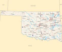 Map Of Oklahoma State by Oklahoma Reference Map U2022 Mapsof Net
