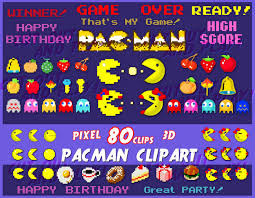 pacman clipart arcade clipart pixel clipart pacman party gamer