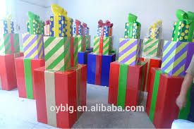 Decorative Christmas Gift Boxes Selling Fiberglass Gift Box Decorations Christmas Prsent Boxes