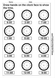 pictures on printable clock worksheets for kindergarten bridal