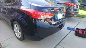 rear bumper hyundai elantra painted 2007 2010 hyundai elantra oe replacement rear bumper cover