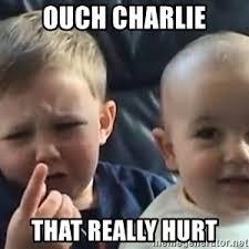 Charlie Meme - charlie bit me meme generator