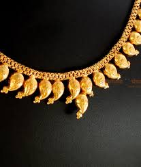 gold plated jewellery traditional maanga mango necklace design