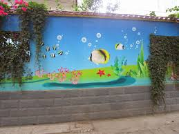 play wall painting3d cartoon paintingschool painting we