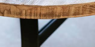 Table Repas Style Industriel by Table De Style Industriel En Acier En Teck Ronde Soho