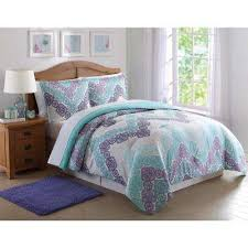 Teal And Purple Comforter Sets Twin Xl Bedding Sets Bedding The Home Depot