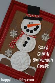 easy giant snowman craft happy home fairy