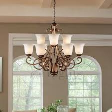 Shabby Chic Bathroom Lighting Vintage 9 Light Glass Shade Two Tiered Shabby Chic Chandelier