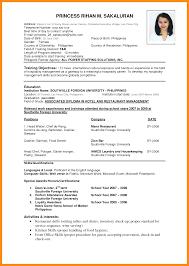 Resume Format Pdf For Computer Operator by 8 Standard Cv Format Pdf Resume Setups
