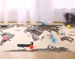 world map rug etsy
