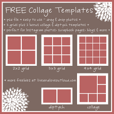 download instagram layout app free set of 5 photo collage templates easy to use perfect for