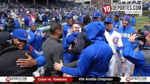 aroldis chapman gets championship ring from chicago cubs youtube