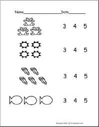 count groups of objects 3 5 ver 2 pre k primary worksheet