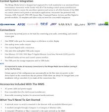 mms 1e media streamer users manual user manual autonomic controls