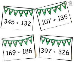 digit math free baseball addition 3 digit addition