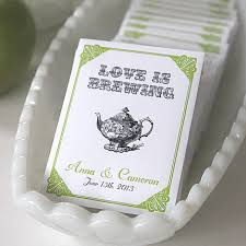personalized tea bags bridal shower favors is brewing tea favors by
