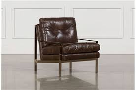 Brown Leather Accent Chair Accent Chairs With Arms Armless Living Spaces