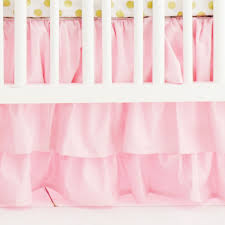 Solid Pink Crib Bedding Pink And Gold Baby Bedding Rail Cover Set Gold Crib Bedding