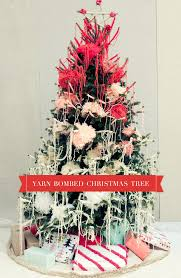 yarn bombed christmas tree handmade charlotte