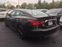 used certified one owner 2017 nissan maxima sr midnight edition
