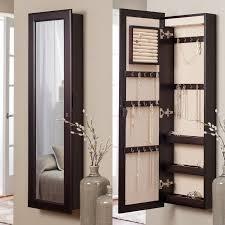 wall mounted jewelry cabinet u0026 mirror 14 63w x 48 13h in