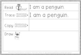 making and writing winter sentences for kindergarten vocab