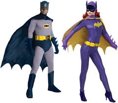 Batman Robin Halloween Costumes Girls Couples Batman Batgirl Costumes 60s Tv Show Retro