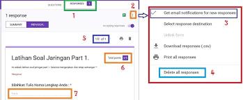 langkah membuat google form cara mengecek response atau tanggapan soal kuesioner google forms