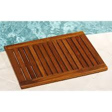 Bath Shower Mat Wooden Bath Mat Universalcouncil Info