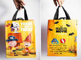 peanuts movie snack ideas trick or treat bag u2014 all for the boys