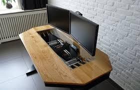 pc desk design man builds the ultimate pc case desk hybrid geek com