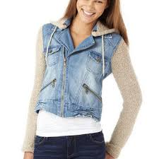 jean sweater jacket billabong denim jacket with sweater mix from delias
