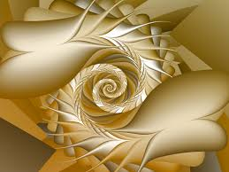 Gold Flowers Fractal Art By Vicky New Gold Flowers Wallpaper