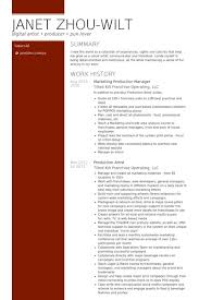 General Manager Resume Example by Production Manager Resume Samples Visualcv Resume Samples Database