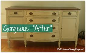 Vintage Buffets Sideboards Annie Sloan Chalk Paint Transforming A Vintage Sideboard With