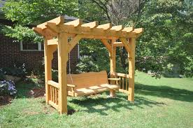 Timber Frame Pergola by Timber Frame Swing With Gun Stock Posts Timber Frames For Use