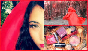 red riding hood halloween makeup 1 minute no sew cloak