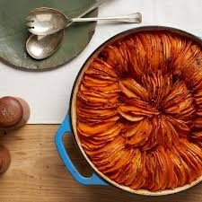 spiced sweet potato and parsnip tian recipe epicurious