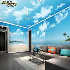 beibehang blue sky white clouds romantic beach theme space house