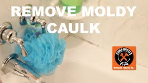 remove and replace moldy shower caulk by home repair tutor