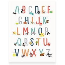 Abc Nursery Decor Animal Alphabet Wall Print 18x24 Nursery Decor