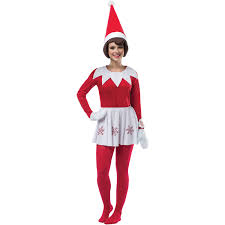 Elf Halloween Costumes Elf Shelf Dress Women U0027s Halloween Costume Walmart