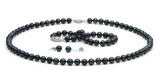 black necklace white images Black pearl jewelry free returns free shipping no nonsense jpg