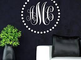 custom monogram letter vinyl decal wall stickers letters vinyl