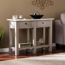 marble sofa table acme furniture boice ii faux marble and champagne console table