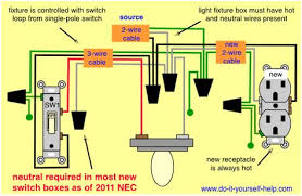 wiring diagram for adding an outlet from an existing light fixture